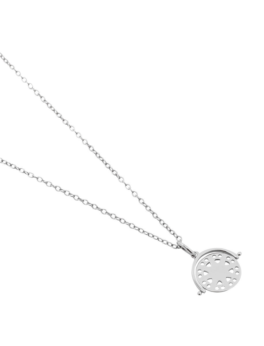 Francis Necklace - Rhodium Plated Sterling Silver Necklace