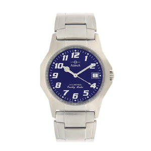 Gents 100m Country Master S/S Blue F/F Watch