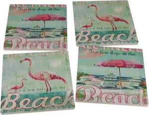 Blue Beach Coasters Set of 4