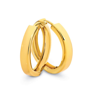 9ct Yellow Gold/Silver Filled Huggie Earrings