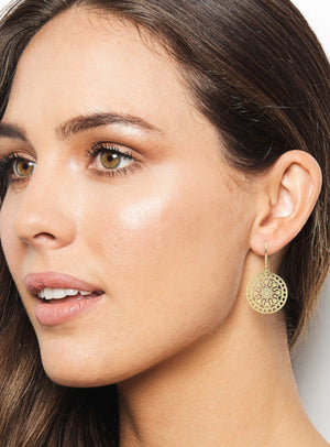Tahiti Earrings Sterling Silver Gold Plated