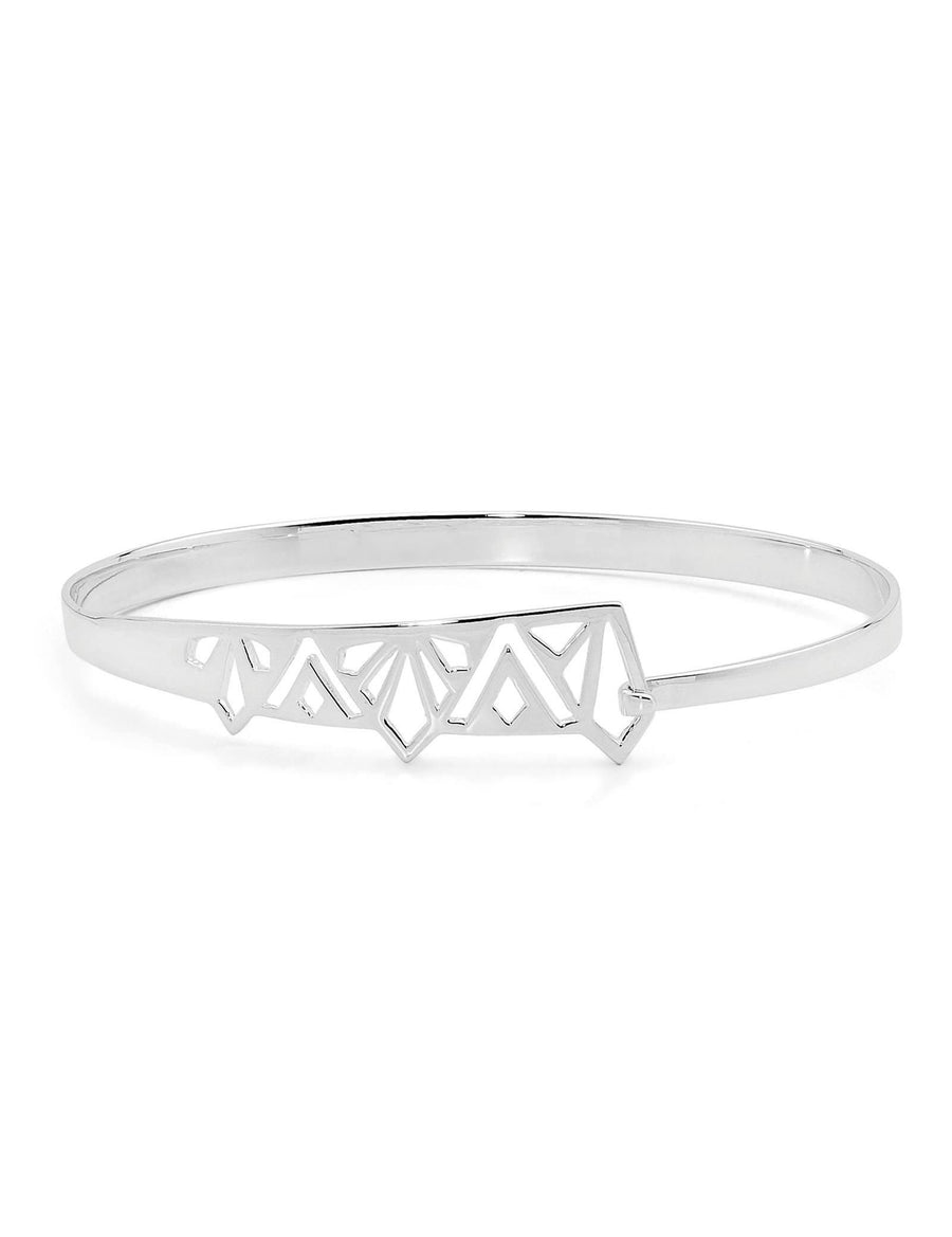 Wild Flower Bangle Sterling Silver