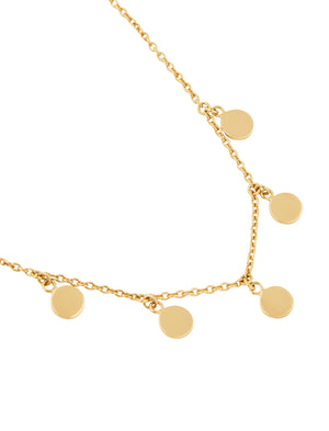Gypsy Moon Necklace Yellow Gold 37cm