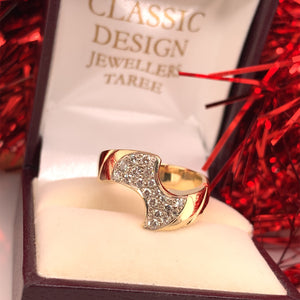 9ct Yellow Gold Handmade Diamond Dress Ring TDW 0.50ct