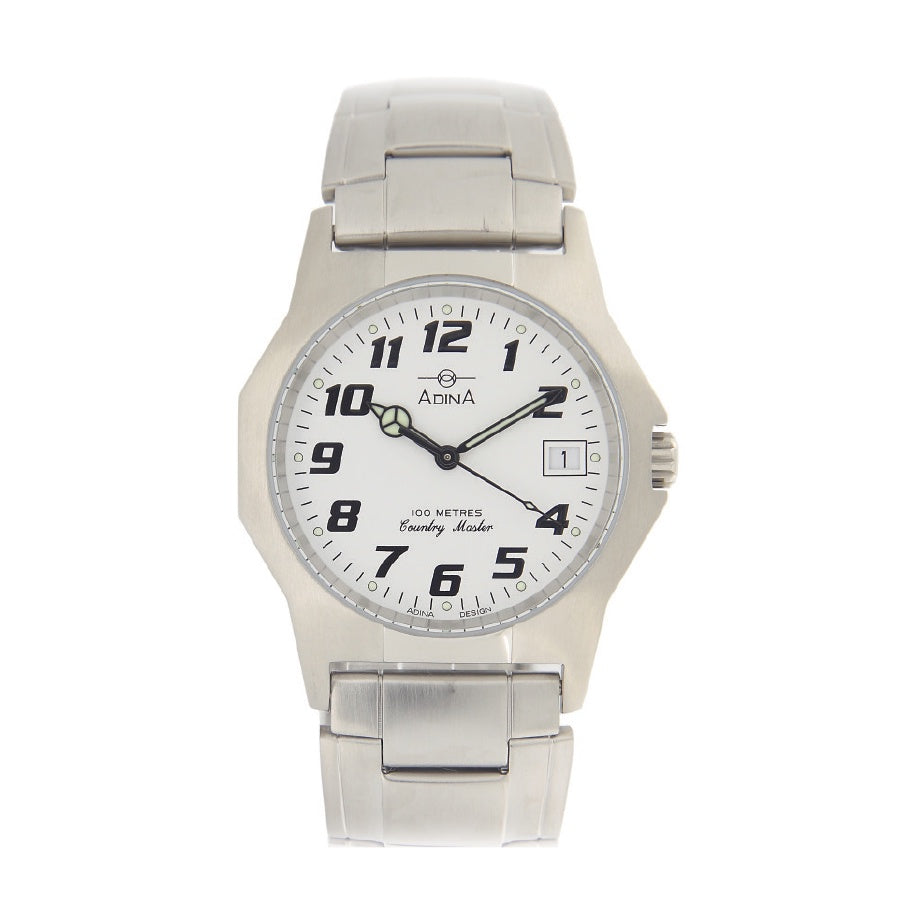 Gents 100m Country Master S/S White F/F Watch