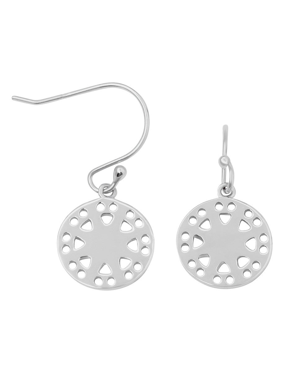 Francis Earrings - Rhodium Plated Sterling Silver Earrings