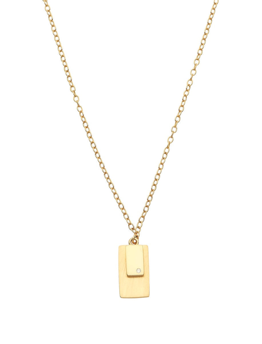 Shadow Necklace - 14k Yellow Gold Plated Sterling Silver Necklace