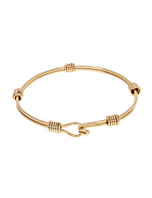 Drifter Bangle - in Yellow Gold Plated Stainless Steel
