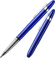 A400BBCL - Translucent Bullet Pen in Blueberry with Chrome Clip