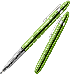 A400LGCL - Aurora Borealis Green Bullet Space Pen w/ Chrome Clip
