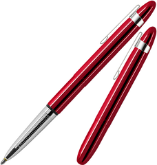 A400RCCL - Red Planet Bullet Space Pen w/ Chrome Clip