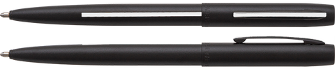 AM4BMWL - Matte Black Cap-O-Matic Space Pen w/ Thin White Line: Emergency Medical Services