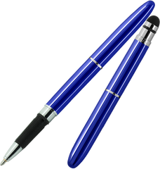 ABG1/S - Blue Bullet Grip Space Pen w/ Stylus
