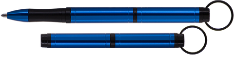 ABP/BL – Blue Anodized Aluminum Backpacker Pen with Key Chain