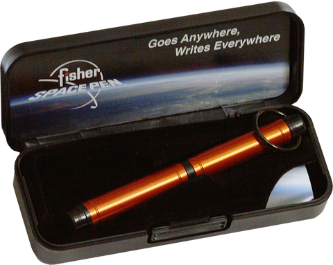ABP/O - Orange Backpacker Space Pen with keychain