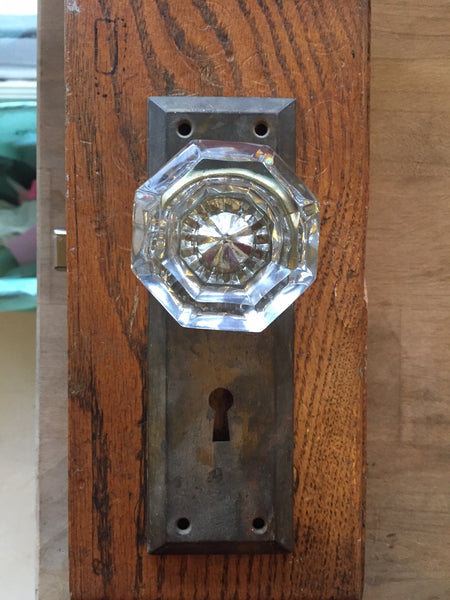 Glass Knob And Plate