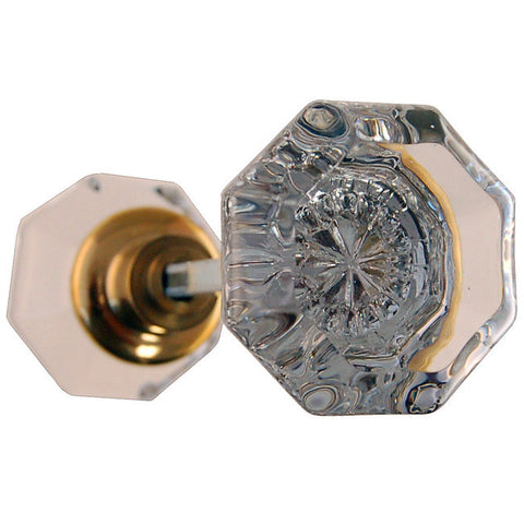 Reproduction octagonal glass doorknobs