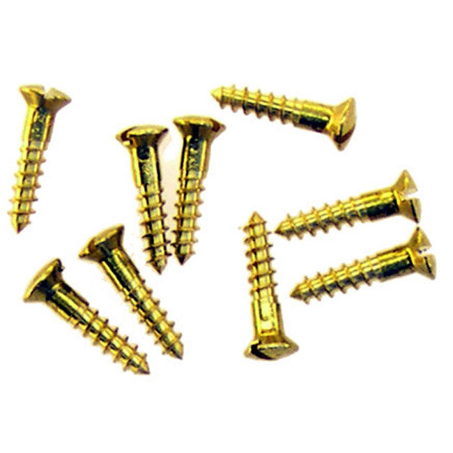 Oval Head Slotted Wood Screws