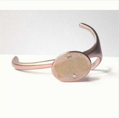 Mid-Century 1970's Pink Annodized Aluminum Hook