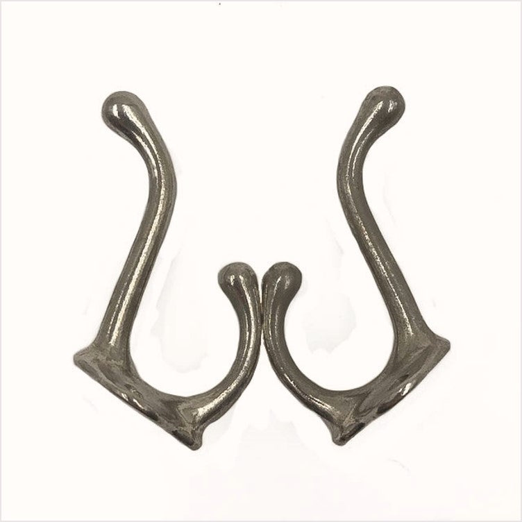 Vintage Nickel Bathroom Hooks