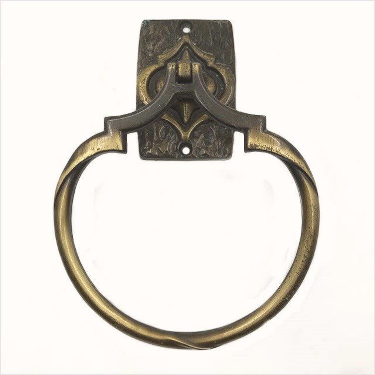 Carriage House 1960s Brass Towel Ring