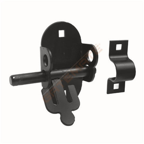 Black Oval Gate Slide Bolt