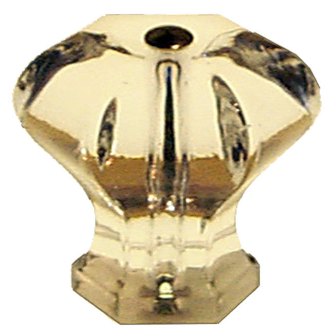 Glass Clear Hexagonal Cabinet Drawer Knobs