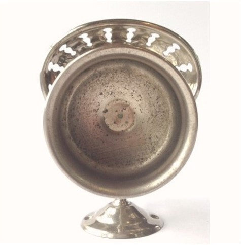 Antique Nickel Cup and Pierced Soap Holder