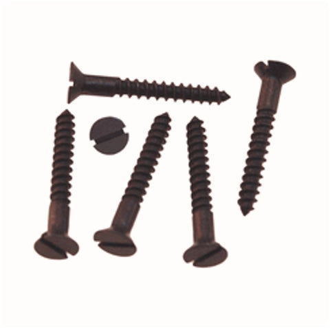 Flat Head Slotted Counter Sunk Wood Screws