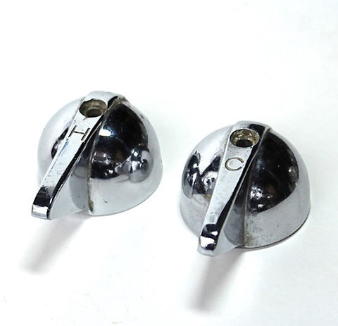 Crane Chrome Hot Cold Lever Handles