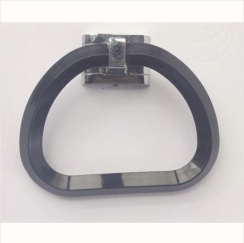 Hallmack Black Plastic Deco Towel Ring