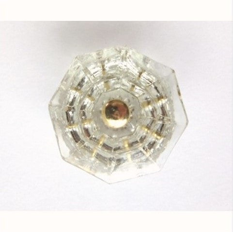 Antique Clear Octagonal Glass Cabinet Knobs
