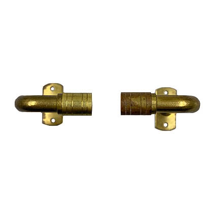 Brass Cafe Curtain Rods with Projection