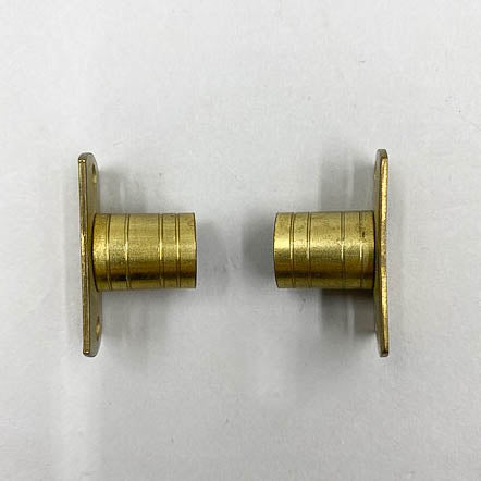 Flat Cafe Curtain Rod Barrel Hardware Ends