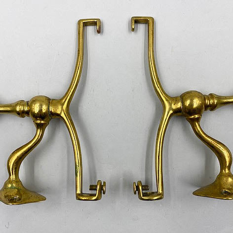 Art Brass Co Shelf Brackets w/ Towel Bar