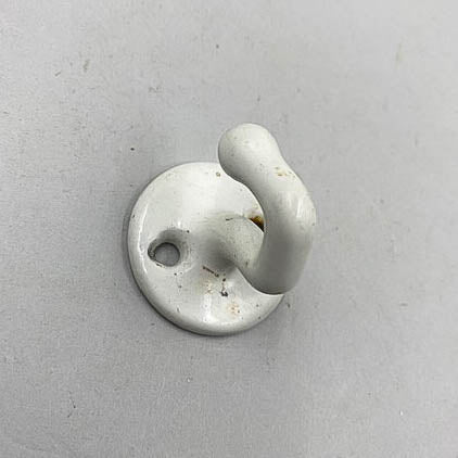 Enamel White Porcelain Iron Small Hook