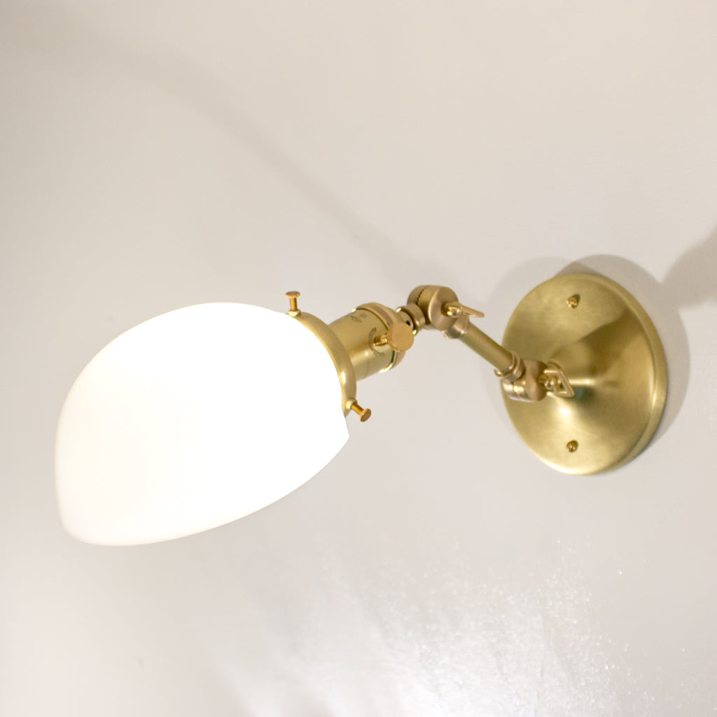 Brushed Brass Articulated Schoolhouse Electric Wall Sconce