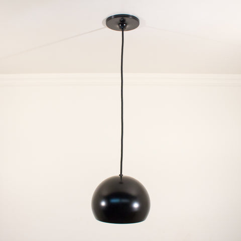 Black Sphere Schoolhouse Electric Pendant Light