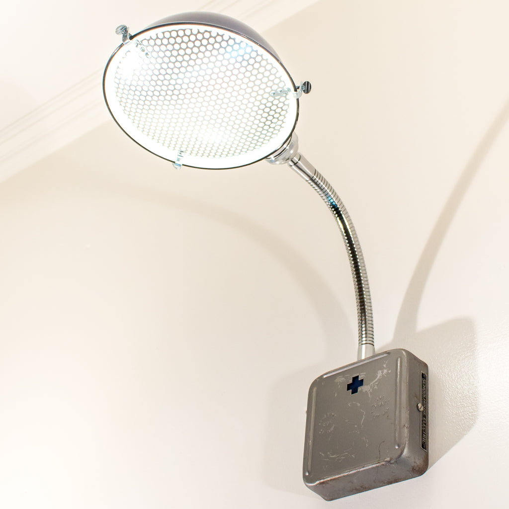 Blue Schoolhouse Electric Industrial Wall Sconce