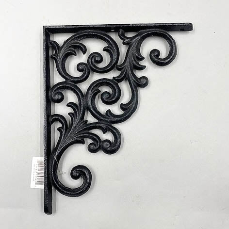 Iron Black Filigree Shelf L Brackets