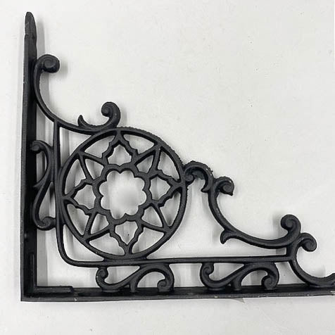 Iron Black Star Shelf L Brackets