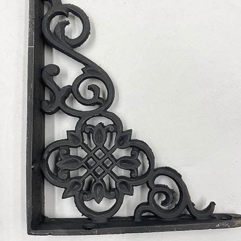 Iron Black Shelf L Geometric Flowers Small