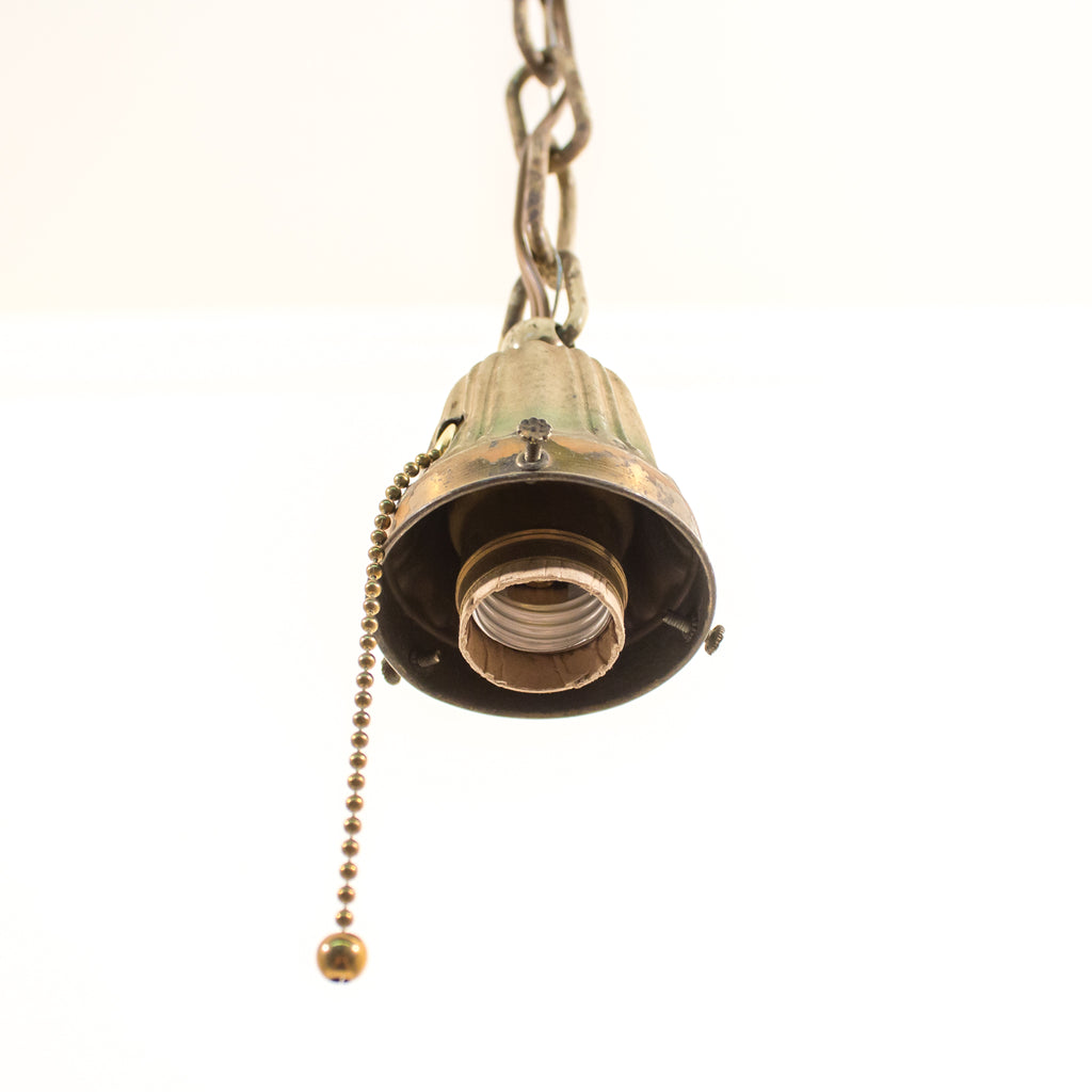 Decorative Antique Brass Chain Pendent with Pull-Chain Socket