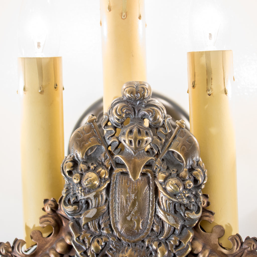 Heavy Lions Head Sconces (set of 4)