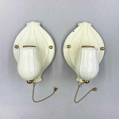Nouveau Cream Organic Wall Sconces