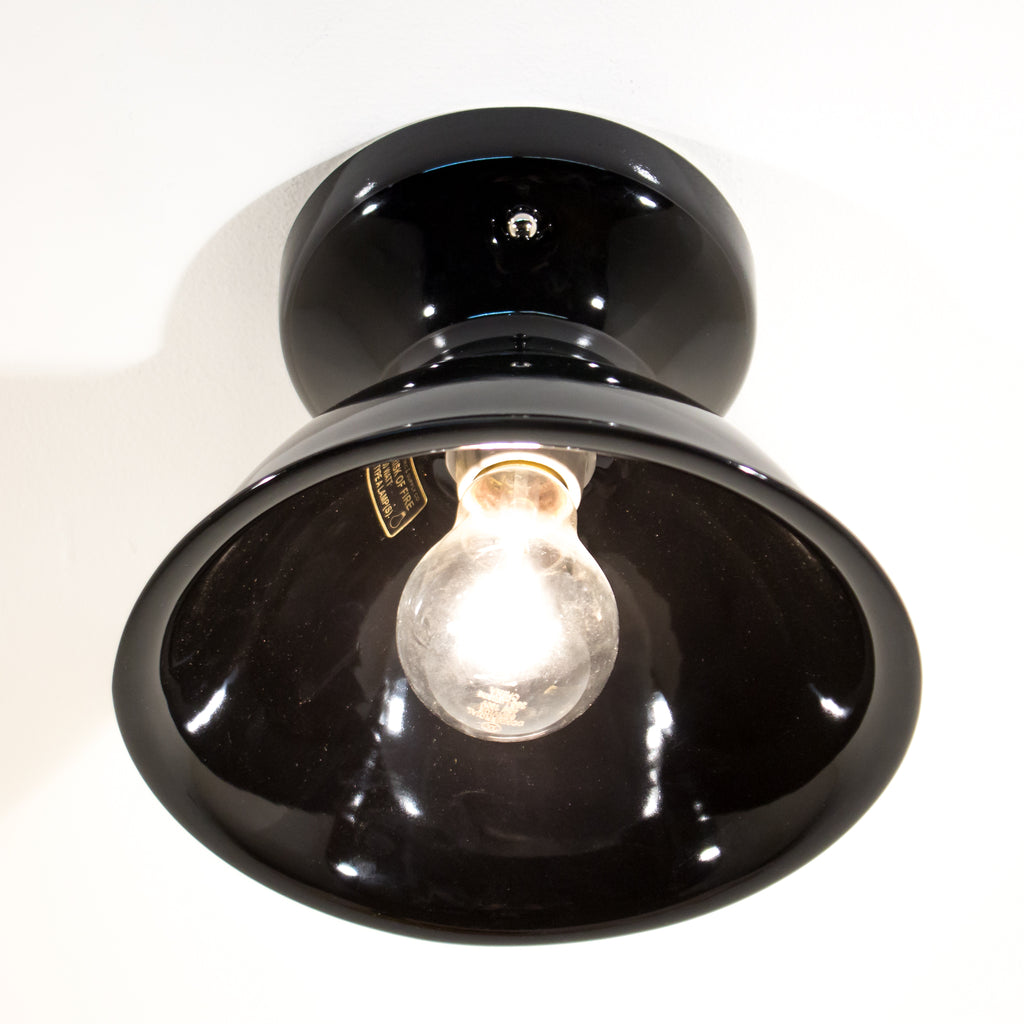 Black Ceramic Schoolhouse Electric Ceiling Light