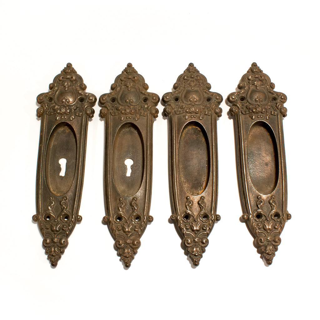 Victorian Set of Pocket Door Pulls