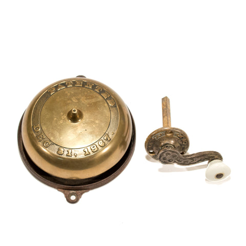 Victorian Turn Crank Mechanical Doorbell