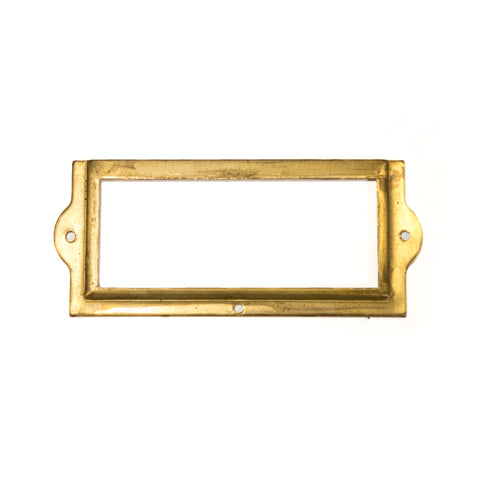 Vintage Brass Label Holder