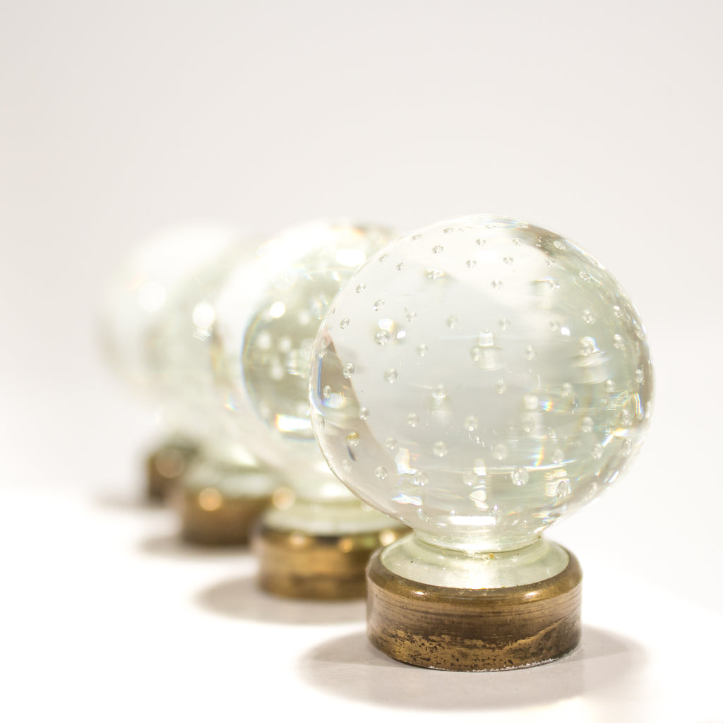 Round Control Point Bubble Glass Knobs